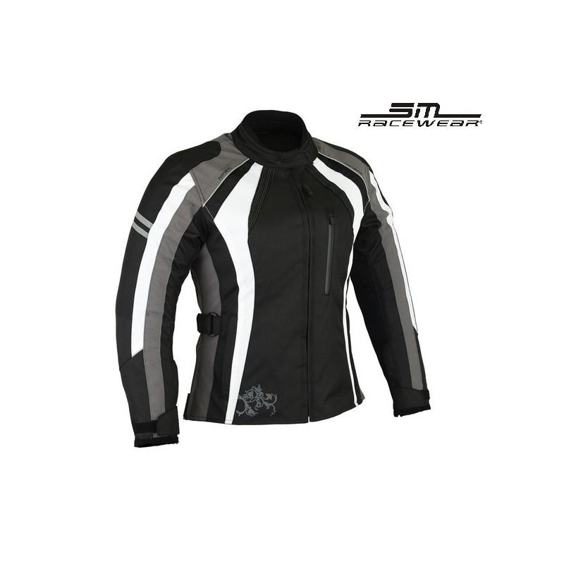 0e9f752c04100 SM RACE WEAR ANA GREY DAMSKA KURTKA MOTOCYKLOWA LADY - SM Race Wear