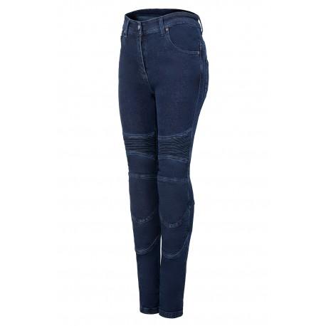 SM RACE WEAR STREET LADY  BLUE jeansy motocyklowe spodnie damskie