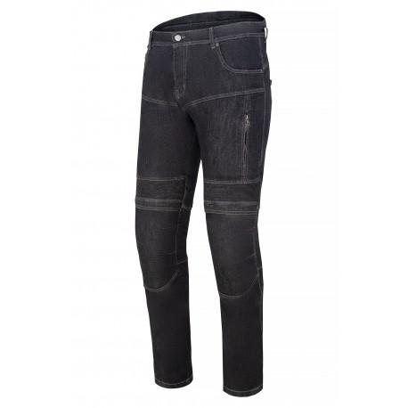 SM RACE WEAR STREET  BLACK jeansy motocyklowe spodnie męskie